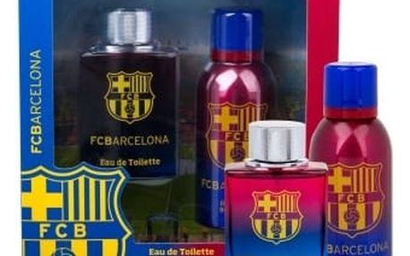 EP Line FC Barcelona dárková kazeta pro muže toaletní voda 100 ml + deospray 150 ml