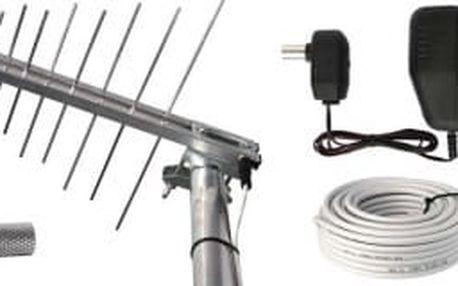 BENsat Emos anténa BEN-20 G/Z - TV anténa UHF venkovní, včetně zdroje