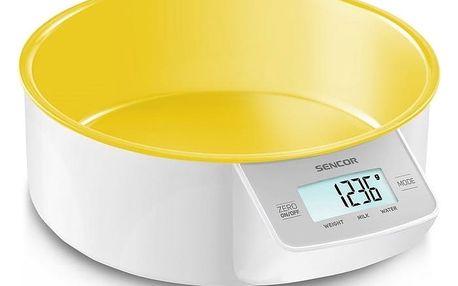 Kuchyňská váha SKS 4004YL, žlutá, Sencor