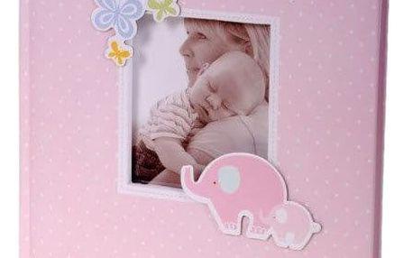KARPEX Exkluzivní dětské fotoalbum 10x15/200 foto HONEY, Růžové
