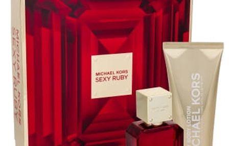 Michael Kors Sexy Ruby dárková kazeta pro ženy parfémovaná voda 50 ml + tělové mléko 100 ml