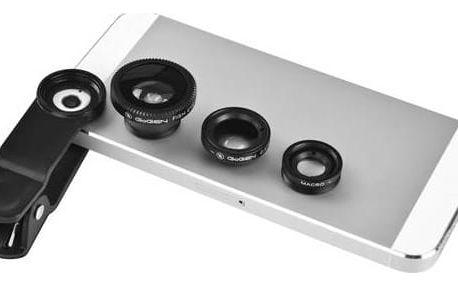 Set mini objektivů GoGEN 3in1, široký úhel, rybí oko, makro (GOGLENSKIT301)