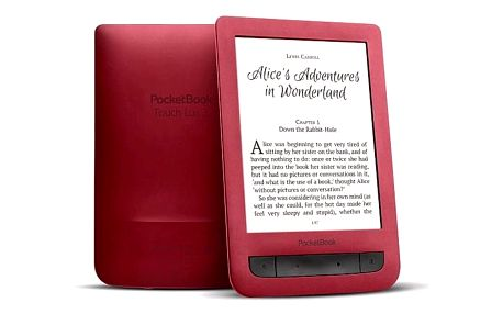 PocketBook 626 Touch Lux3 Red ebook reader, 6´´ E-ink 1024x758 LCD, WLAN b/g/n, 4GB/SD+100 knih zdarma
