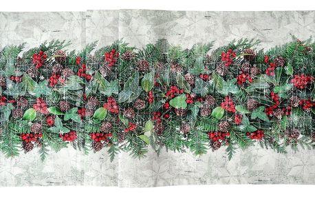Sander Běhoun X-Mas Bouquet červená 50 x 140 cm