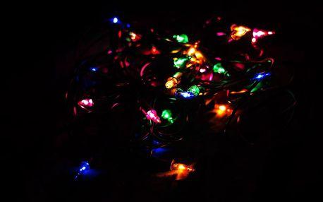 Nexos 43004 Vánoční světelný řetěz - 100 MINI žárovek - barevné