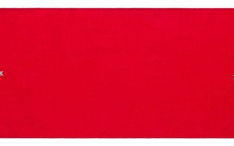 BO-MA Trading Běhoun na stůl Vánoční stromek Ornament červená, 40 x 140 cm