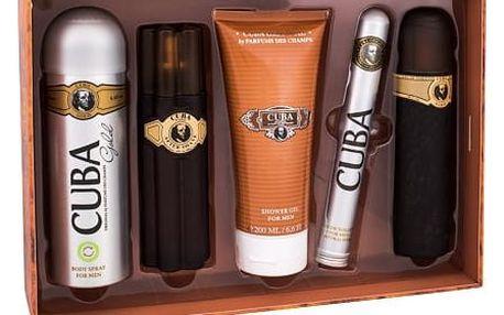 Cuba Gold EDT dárková sada M - EDT 100 ml + voda po holení 100 ml + sprchový gel 200 ml + deodorant 200 ml + EDT 35 ml