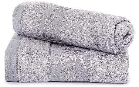 Jahu dárková sada ručníků bambus Hanoi světle šedá