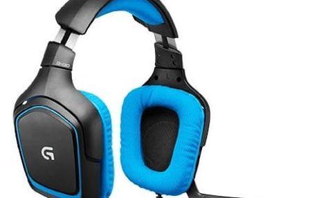 Headset Logitech G430 (981-000537) modrý