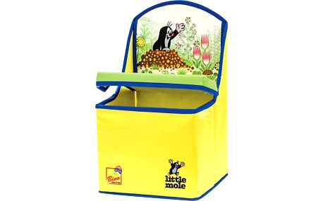 Bino Krtek 2v1 box na hračky/židle