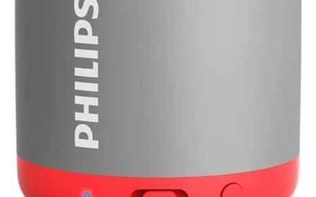 Přenosný reproduktor Philips BT25G/00 šedý/červený