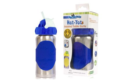 PACIFIC BABY Hot-Tot Termoska s brčkem 260 ml modrá