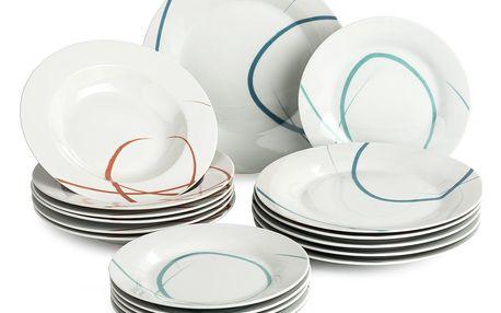 Banquet Sada talířů PASTELLE, 18 ks