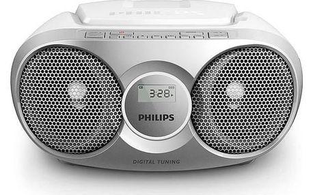 Radiopřijímač s CD Philips AZ215S stříbrný + Doprava zdarma