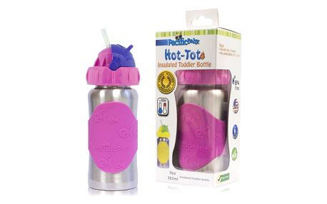 PACIFIC BABY Hot-Tot Termoska s brčkem 260 ml růžová