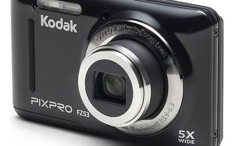 Digitální fotoaparát Kodak FZ53 (819900012231) černý + Doprava zdarma
