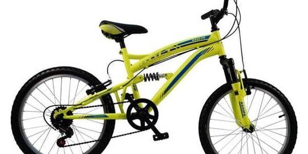 """Dětské kolo Bolt 20"""" celoodpružené žluté + Doprava zdarma"""