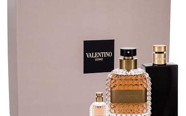 Valentino Valentino Uomo EDT dárková sada M - EDT 100 ml + balzám po holení 100 ml + EDT 4 ml