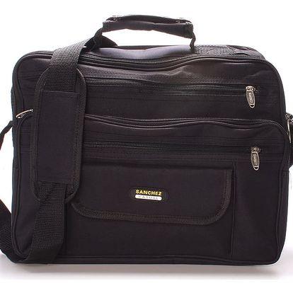 Černá taška přes rameno Sanchez Matias černá