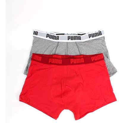 Boxerky Puma Basic Shortboxer 2 Pack red Barevná