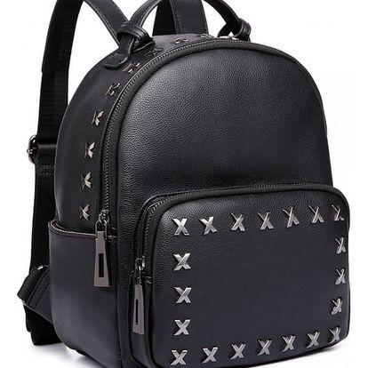 Dámský černý batoh Young 6649