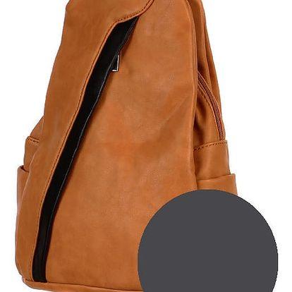 Koženkový batoh/kabelka 3V1 šedá