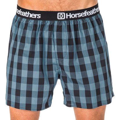 Pánské Trenky Horsefeathers Apollo Boxer Shorts Smoke Blue M