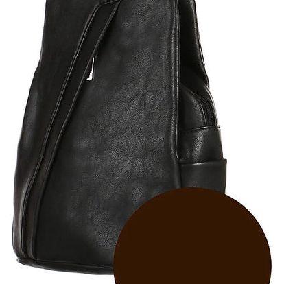 Koženkový batoh/kabelka 3V1 kávová