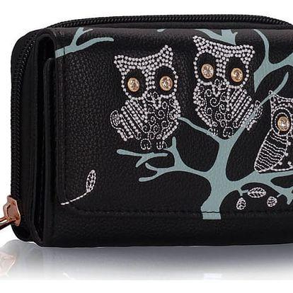 Dámská peněženka Owl 1045 černá