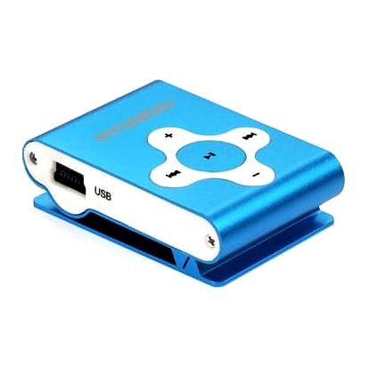 MP3 přehrávač Hyundai MP212BU modrý + Doprava zdarma