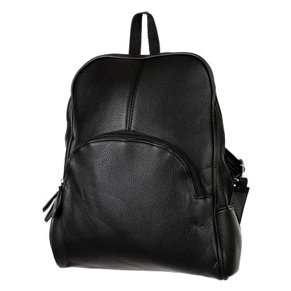 Koženkový batoh černá