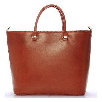 Luxusní dámská kožená kabelka hnědá - ItalY Anabela hnědá