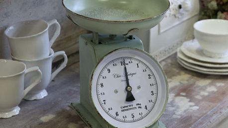 Chic Antique Kuchyňská váha Antique Mint, zelená barva, kov