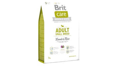 Granule Brit Care Adult Small Breed Lamb & Rice 3 kg + Doprava zdarma