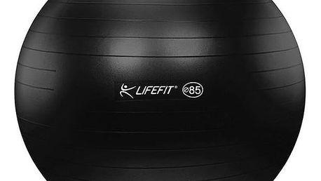 Gymnastický míč LIFEFIT ANTI-BURST 85 cm černý + Doprava zdarma