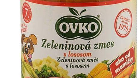 6x OVKO Zeleninová směs s lososem 190g – maso-zeleninový příkrm