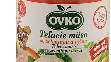 6x OVKO Telecí maso se zeleninou a rýží 190g – maso-zeleninový příkrm