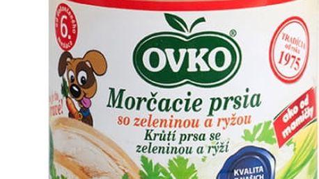 6x OVKO Krůtí prsa se zeleninou a rýží 190g – maso-zeleninový příkrm