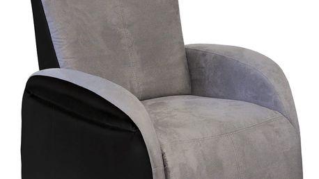 Relaxační polohovací křeslo ROXANA šedá/černá K141
