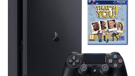 Herní konzole Sony SLIM 500 GB + That's You (PSN voucher) (PS719919063) černá Hra Sony PlayStation 4 Uncharted 4: A Thief's End v hodnotě 799 Kč + DOPRAVA ZDARMA
