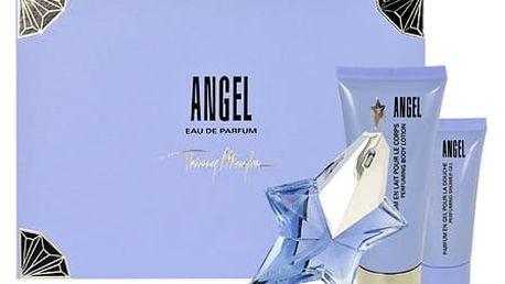 Thierry Mugler Angel EDP dárková sada Naplnitelný W - EDP 25 ml + tělové mléko 100 ml + sprchový gel 30 ml
