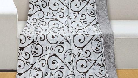 Bellatex Deka Reliéf micro Lipové listy, 150 x 200 cm