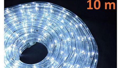 Osvětlení vánoční - Kabel LED 10m - studená bílá - 18000042