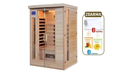 Infra sauna HealthLand DeLUXE 2220 CB/CR + Doprava zdarma
