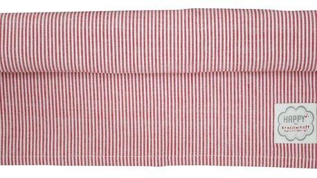 Krasilnikoff Běhoun na stůl Red small stripes 50x160, červená barva, textil