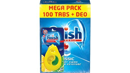 FINISH Classic Regular 100ks + DEO Lemon - tablety do myčky