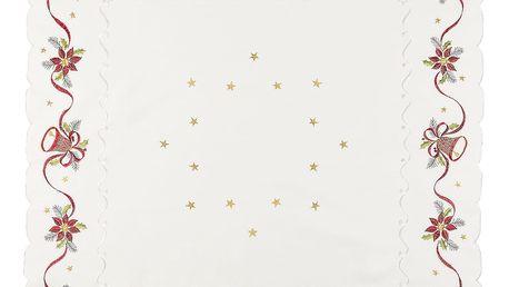 Forbyt Vánoční ubrus Zvonky, 85 x 85 cm, 85 x 85 cm