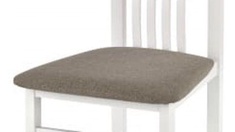 Pawel - Jídelní židle (světle hnědá, bílá)