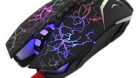 Myš A4Tech N50 (N50 Black) černá / laserová / 8 tlačítek / 4000dpi
