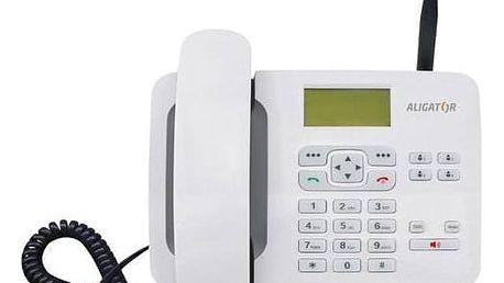 Domácí telefon Aligator T100 (stolní) (AT100W) bílý + Doprava zdarma